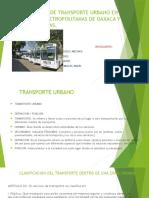 Analisis de Transporte Urbano en Zonas Metropolitanas De