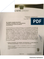 UAEM contra Fermín Carreño por declaraciones realizadas a medios de comunicación