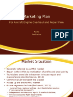 Marketing Plan For Aircraft Engine Overhaul and Repair Firm