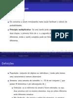 Pfc, Analise Combinatória