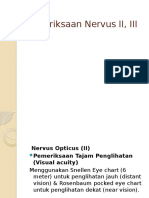 Pemeriksaan Nervus II, III.pptx