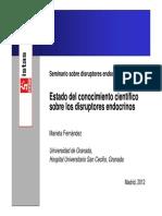 Disruptores-Ponencia Marieta Fernandez, Universidad de Granada