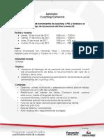 20170327 Brief Seminario Coaching Comercial Camamra de Comercio 2017