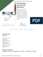 Receita de Rocambole de Doce de Leite Fácil - Receitas Do Allrecipes Brasil