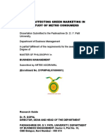 Factors Affecting Green Marketing in India a Study of Metro Consumers Artee Agarwal
