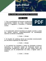 Mini Simulado Direito Constitucional Projeto Policial
