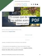 25 Cosas Que de Seguro No Sabías Acerca de Venezuela _ Upsocl