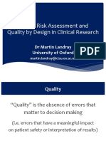 Quality Risk Management in Clinical Trial Design