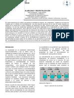 recristalizacion y Solubilidad Lab Amilvia Vega