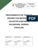 PR.N°001 TRABAJOS EN CALIENTES
