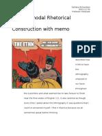multimodal rhetorical construction