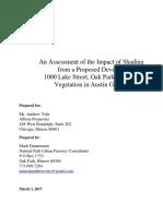 Albion Oak Park - Shade Assessment