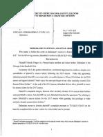 Memorandum Opinion and Order - Frager v. Cubs