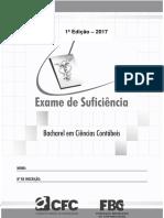 Caderno Prova Bc 2017 1