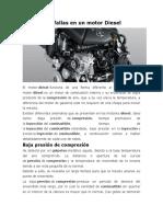 Principales Fallas en Un Motor Diesel