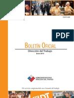 Boletin Oficial Direccion del Trabajo Enero 2010