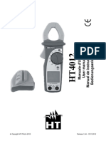 Manual Multimetro HT Italia HT4012 Pinza amperimetrica para corriente AC max 400A HP004012.pdf