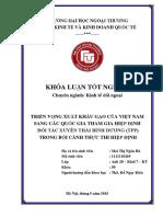 Triển Vọng Xuất Khẩu Gạo Của Việt Nam Sang Các Quốc Gia Tham Gia TPP- Mai Thị Ngân Hà- 8,9 (Top 13 BTA2015)