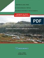 Peligros Geológicos Sector de Santa Barbara-Huancavelica
