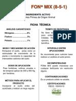 Ficha Tecnica Fon Mix 2014728042640000000
