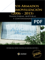 Grupos Armados Posdesmovilizacion 2006 2015