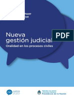 Nueva Gestión Judicial - Oralidad en Los Procesos Civiles