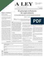 El principio tributario de equivalencias