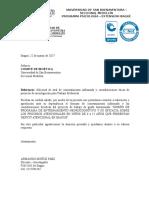 Carta Para Comite de Bioetica