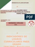 Exposicion Lineamientos Curriculares Grado Tercero