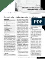 Tesorería y Los Estados Bancarios Electrónicos