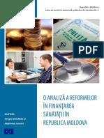 Analiza a Reformelor in Finantarea Sanatatii