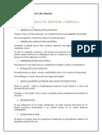 Patologias en Protesis Completa