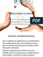 Orientações Para Os Exames Admissionais - Periódicos - Demissionais