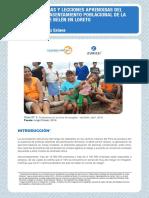 Buenas Practicas y Lecciones Aprendidas Del Proyecto de Reasentamiento Poblacional de La Nueva Ciudad de Belén en Loreto