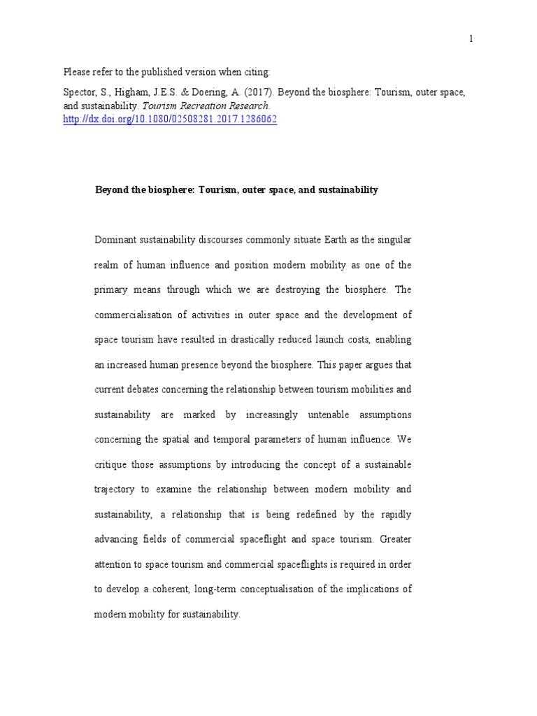 order tourism term paper