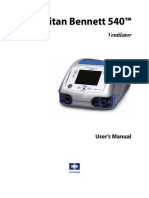 PB 540 Ventilator User Manual