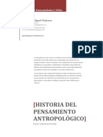 PROGRAMA Historia Del Pensamiento Antropológico!