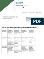 1S2016_DIP_CUR_10_ Rúbrica Para La Evaluación Del Proyecto de Transferencia