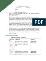 observation report-4