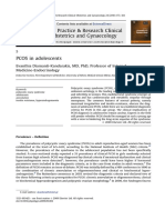 PCOS in Adolescents 2010 Best Practice Research Clinical Obstetrics Gynaecology