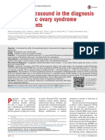 Utility of Ultrasound in the Diagnosis of Polycystic Ovary Syndrome in Adolescents 2014 Fertility and Sterility