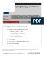 Preventing Psychological Disorders in Service Members and Their Families an Assessment of Programs
