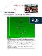 1 v 1 Session for Young Players Session Plan