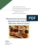 Promocion de Exportaciones Del Cacao