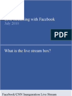 Live Streaming with Facebook