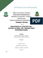 vision global de marketing
