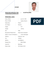 Carlito v.marasigan Scafold Supervisor