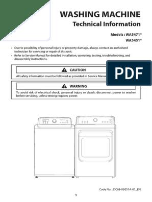 Washer Repair Manual Samsung Washing Machine Electrical Connector