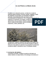 Lixiviación Del Platino en Medio Acido