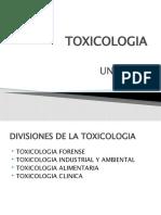 Toxicologia -Unidad II Int Crim